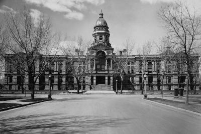 Capitol Building at the End of a Cheyenne Street--Photographic Print