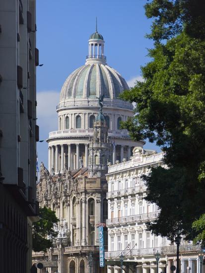 Capitol Building, Havana, UNESCO World Heritage Site, Cuba-Keren Su-Photographic Print