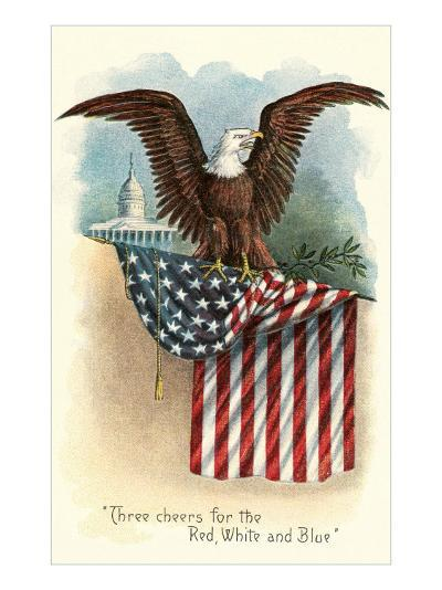 Capitol, Eagle and Flag--Art Print