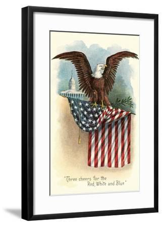 Capitol, Eagle and Flag--Framed Art Print