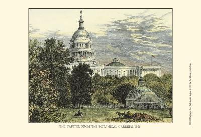Capitol from the Botanical Gardens--Art Print
