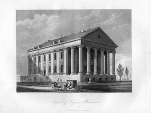 Capitol of Virginia, Richmond, USA, 1855