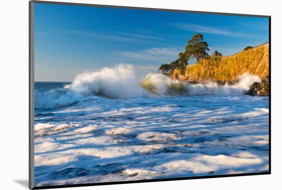 Capitola Cliffs & Waves-John Gavrilis-Mounted Photographic Print