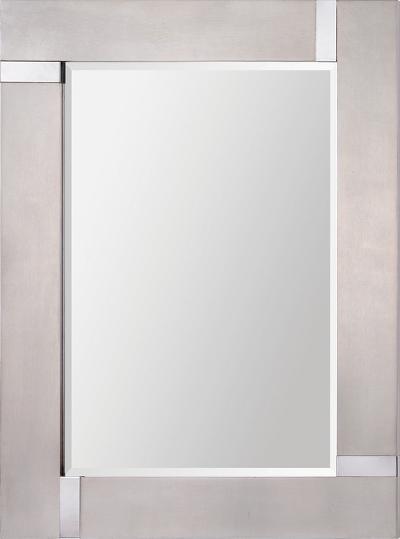 Capiz Silver Leaf Mirror--Wall Mirror