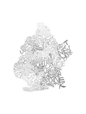 Typographic Brooklyn Winter by CAPow