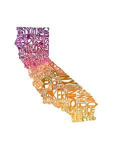 Typographic California Warm by CAPow