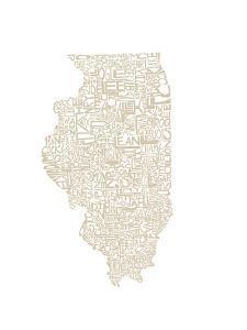 Typographic Illinois Beige by CAPow