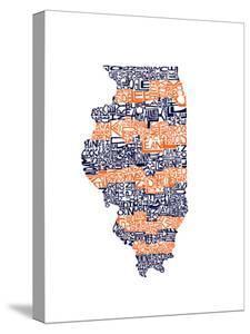 Typographic Illinois Illini by CAPow