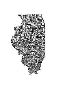 Typographic Illinois by CAPow