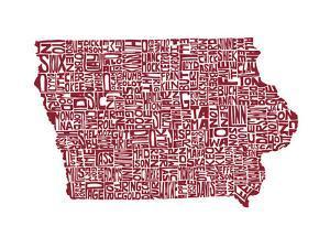 Typographic Iowa Maroon by CAPow
