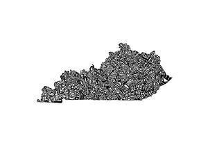 Typographic Kentucky by CAPow
