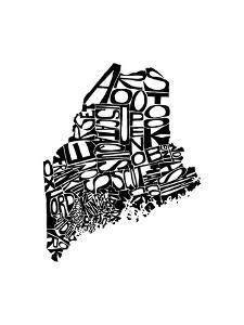 Typographic Maine by CAPow