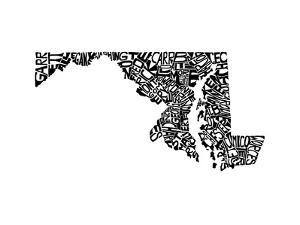 Typographic Maryland by CAPow