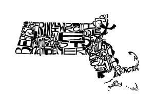 Typographic Massachusetts by CAPow
