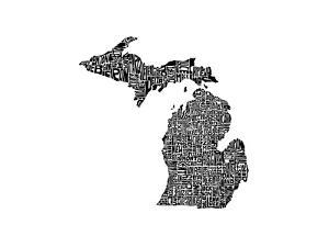 Typographic Michigan by CAPow