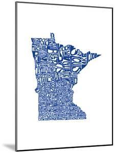 Typographic Minnesota Blue by CAPow