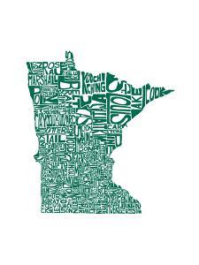 Typographic Minnesota Green by CAPow