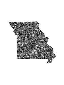 Typographic Missouri by CAPow