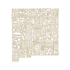Typographic New Mexico Desert by CAPow
