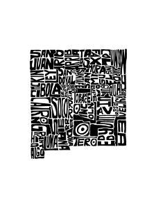 Typographic New Mexico by CAPow