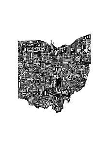 Typographic Ohio by CAPow