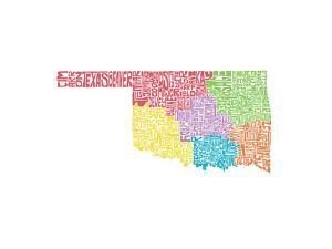Typographic Oklahoma Regions by CAPow