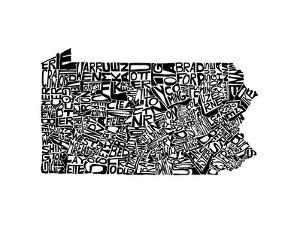Typographic Pennsylvania by CAPow