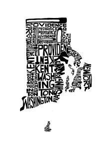 Typographic Rhode Island by CAPow