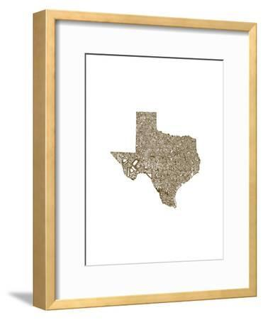 Typographic Texas Brown