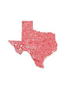 Typographic Texas Red by CAPow