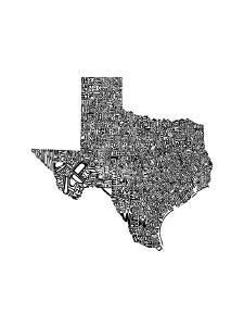 Typographic Texas by CAPow
