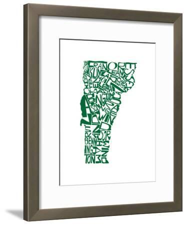Typographic Vermont Green