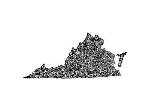 Typographic Virginia by CAPow