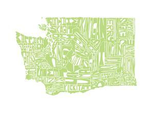 Typographic Washington Green by CAPow