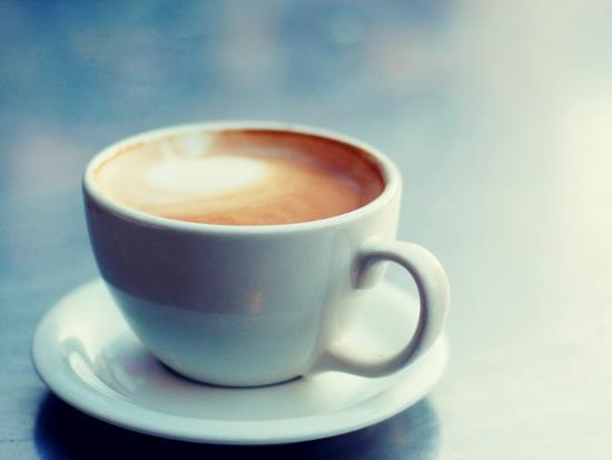 Cappuccino Cup with Foam--Photographic Print
