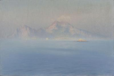Capri, côte escarpée vue de la mer-Henry Brokman-Giclee Print