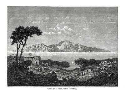 Capri Seen from Massa Lubrense, Italy, 1879--Giclee Print