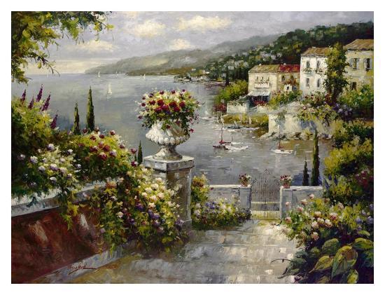 Capri Vista II-Peter Bell-Art Print
