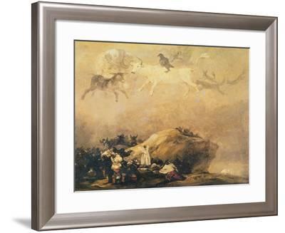 Capriccio Scene: Animals in the Sky-Francisco de Goya-Framed Giclee Print