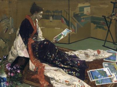 Caprice in Purple and Gold: the Golden Screen, 1864-James Abbott McNeill Whistler-Giclee Print