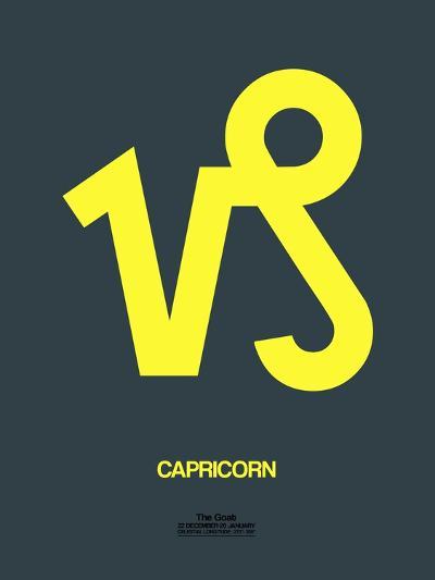 Capricorn Zodiac Sign Yellow-NaxArt-Art Print