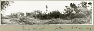 Greek Church, Jaffa, 2nd December 1917 by Capt. Arthur Rhodes