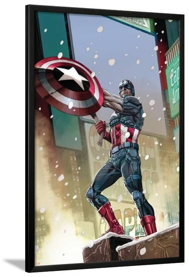 Captain America #11 Cover: Captain America-Carlos Pacheco-Lamina Framed Poster