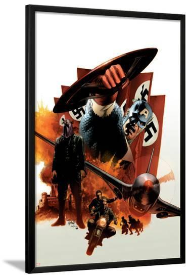 Captain America #6 Cover: Captain America and Baron Zemo-Steve Epting-Lamina Framed Poster