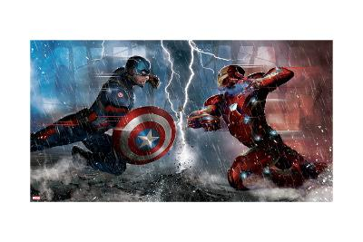 Captain America: Civil War - Captain America Vs Iron Man. Choose a Side--Art Print