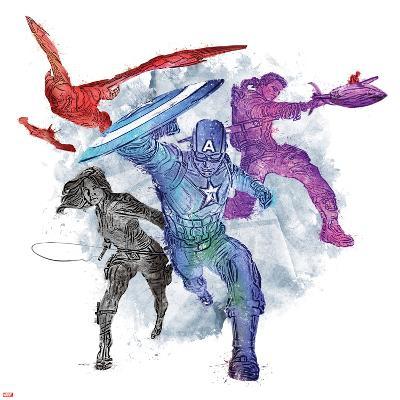 Captain America: Civil War - Team Captain America--Art Print
