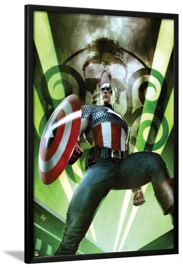 Captain America: Hail Hydra No.1 Cover: Captain America Posing with a Shield-Adi Granov-Lamina Framed Poster