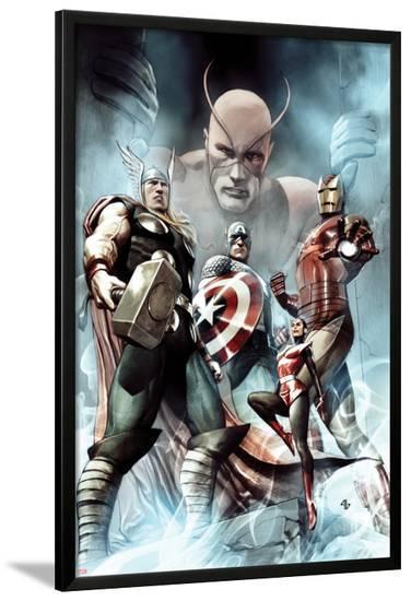 Captain America: Hail Hydra No.2 Cover: Thor, Iron Man, Captain America, and Wasp-Adi Granov-Lamina Framed Poster
