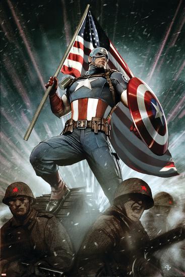Captain America: Living Legend #1 Cover: Captain America-Adi Granov-Art Print