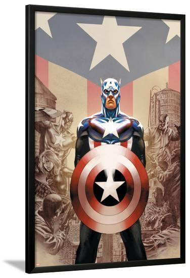 Captain America No.45 Cover: Captain America-Steve Epting-Lamina Framed Poster